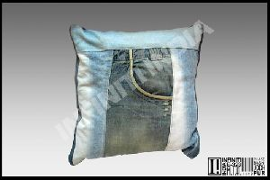 Decorative Denim Cushion