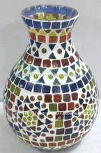 Multicolor Glass Vase