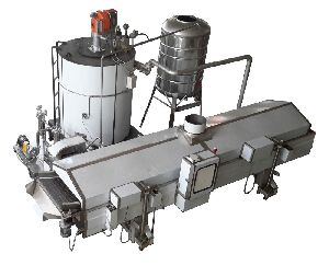 Continuous Snacks Fryer For Extruded Corn Snacks