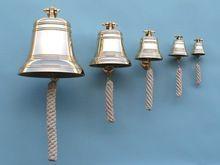 Brass Nautical Bell Wall Hanging