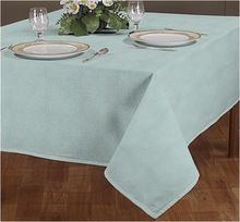 Cotton Chambray Hemstitch Table Cloth