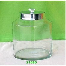 Glass Jar With Metal Lids
