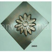 Handmade Flower Copper Tiles