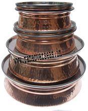 Copper Steel Serving Serving Dish Pot Bowls With Lid