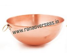 Pure Copper Plain Mixing Bowls With Handles