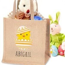 Christmas Grocery Shopping Reusable High Quality Jute Tote Bag