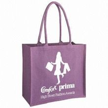 Custom Printed Purple Blue Red White Jute Promotional Bags