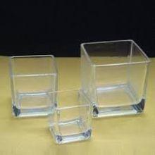 Square Glass Candle Votive