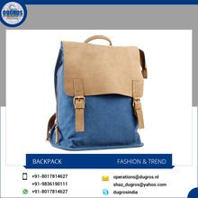 Leather Canvas Backpacks