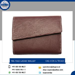 Money Compartment Woman Leather Wallet