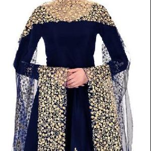 Silk Embroidered Anarkali Suit