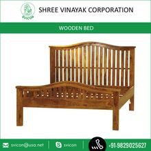 King Size Wooden Model Double Bed