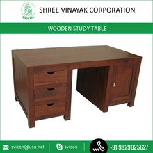 Wood Study Cum Computer Table With Multiple Drawer