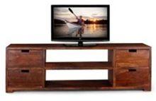 Wooden Tv Unit 4 Drawer 2 Sheves