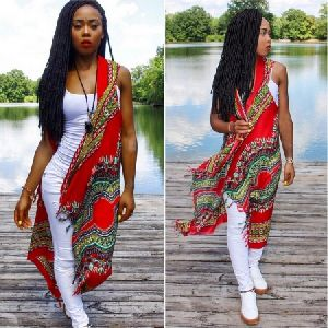 African Dress Long Cardigan