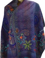 Boiled Wool Embroidery Shawl