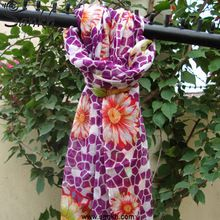 Silk Wool Women Scarf