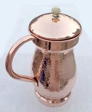 Copper Water Pitcher With Lid