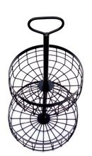 Metal Black Coated Vegetable Basket