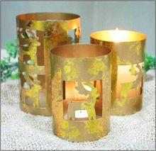 Reindeer Cut Tea Light Candle Holder