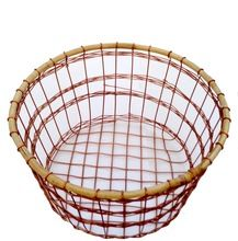 Round Copper Wire Vegetable Basket