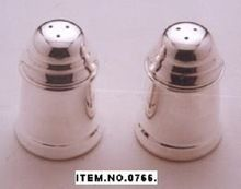 Silver Plated Salt And Pepper Shaker Set