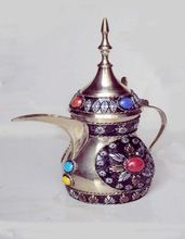 Stone Decorated Coffee Pot