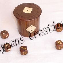 Wooden Dice Bucket