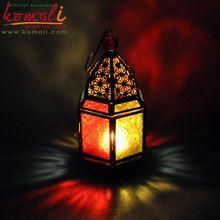 Brass Metal Mini Lantern Wedding Favors With Candle