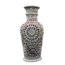 Soapstone Stone Carving Flower Vase