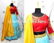 Ajrakh Print Gaji Silk Blouse