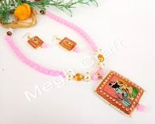 Hand Painted Tanjore Pachi Necklace Set