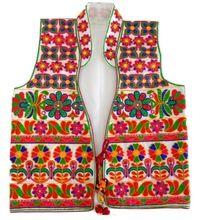 Satin Embroidery Ladies Vests