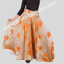 Umbrella Flared Wide Leg Palazzo