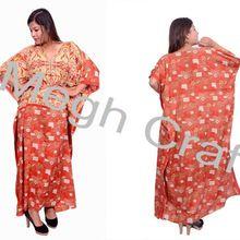 V-neck Long Kaftan Dresses