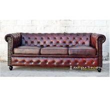 Chesterfield Sofa Genuine Leather Sofa