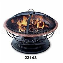 Bowl Fire Pit Iron Black Stand