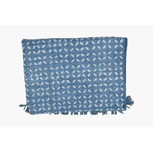 Cotton Indigo Blue Printed Rugs