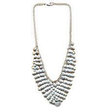 White Stone Beaded Necklace