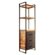 Industrial Vintage Reclaimed Wood Bookshelves With Drawers