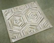 Leather Rug Patchwork Carpet
