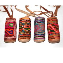 Indian Ethnic Handmade Leather Embroidery Bottle Cover
