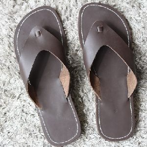 Mens Pure Leather Filp Flops Casual Sandal Slipper