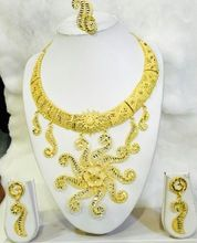 Fancy gold imitation necklace