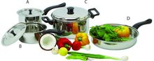 7 Pcs Cookware Set Casserole