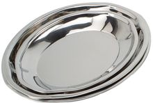 Round Stainless Steel Catering Tray / Platter