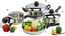 Stainless Steel Casserole Frying Sauce Pan Cookware