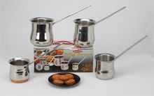 Stainless Steel Coffee Warmer With Tubular Handle