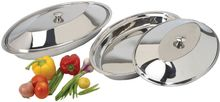 Stainless Steel Food Serving Trays With Lid