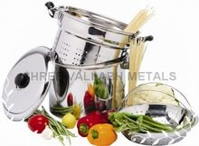 Stainless Steel Pasta Cooker Steamer Multi-pot